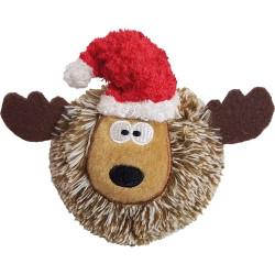 Christmas EZ Squeaky Reindeer Ball - 4 inch   PrestigeProductsEast.com
