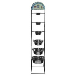 Stainless Steel Bowl Display Rack | PrestigeProductsEast.com