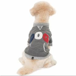 "Hotel Doggy Varsity Fleece ""Dog"" Sweatshirt Dark Grey Mix | PrestigeProductsEast.com"