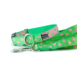 Dots Pink / Green Essential Collars & Leads | PrestigeProductsEast.com