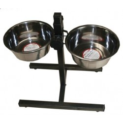 Double Diner  Heavy Iron Adjustable Feeder Stand