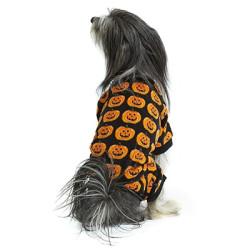 Hotel Doggy Cozy Plush Pajama With AOP Black | PrestigeProductsEast.com