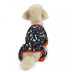 Hotel Doggy Cotton/Spandex Onesie with AOP Print Black | PrestigeProductsEast.com