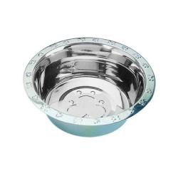 Embossed Rim Standard Stainless Steel Feeding Bowls | PrestigeProductsEast.com