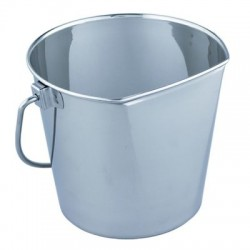 Stainless Steel Flat Sided Bucket | PrestigeProductsEast.com