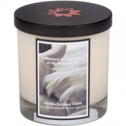 Memorial Candle - Paw In Hand | PrestigeProductsEast.com