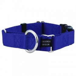 "1"" Wide Solid Colored Buckle Martingale Collars 
