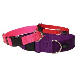"1"" Wide Solid Colored Side Release Nylon Collars 
