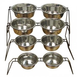 Uniwire Diner w/ Stainless Steel Standard Bowls | PrestigeProductsEast.com