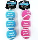 Happy Birthday Tennis Balls 3-Pack   PrestigeProductsEast.com