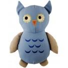 "13"" Big Joe Owl Natural Canvas Toy 