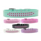 Two Row Bright Pink Crystal Dog Collar | PrestigeProductsEast.com