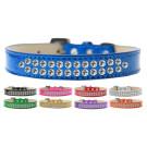 Two Row Clear Crystal Ice Cream Dog Collar | PrestigeProductsEast.com