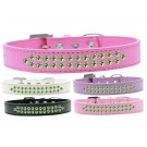 Two Row Lime Green Crystal Dog Collar | PrestigeProductsEast.com