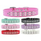 Two Row Pearl and Clear Crystal Dog Collar  | PrestigeProductsEast.com