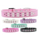 Two Row Pearl and Pink Crystal Dog Collar  | PrestigeProductsEast.com