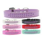 Two Row Purple Crystal Dog Collar | PrestigeProductsEast.com
