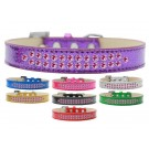 Two Row Bright Pink Crystals Ice Cream Dog Collar | PrestigeProductsEast.com