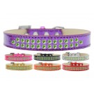 Two Row Lime Green Crystals Ice Cream Dog Collar | PrestigeProductsEast.com