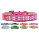 Two Row Pearl and Clear Crystals Ice Cream Dog Collar | PrestigeProductsEast.com
