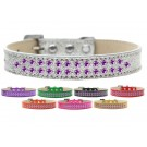 Two Row Purple Crystals Ice Cream Dog Collar | PrestigeProductsEast.com