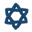 "Star of David 7"" Rope Dog Toy 