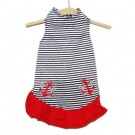 Nautical Stripe with Anchors Dress