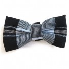 Black / Blue Plaid Bowties