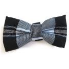 Black / Blue Plaid Bowties