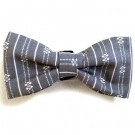 Grey / White Print Bowties | PrestigeProductsEast.com