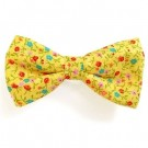 Yellow Flower Print Bowties | PrestigeProductsEast.com