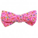 Pink Flower Print Bowties | PrestigeProductsEast.com