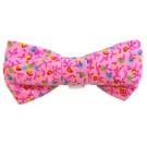 Pink Flower Print Bowties | PrestigeProductsEast.com