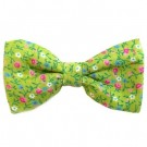 Green Flower Print Bowties | PrestigeProductsEast.com