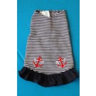 Stripe Flounce Dress with Anchors
