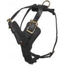 Typhoon Leather Dog Harness, Brass Hardware