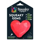 Spunky Pup Squeaky Gem - Heart