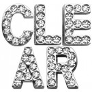 Clear Letter Sliding Charms   PrestigeProductsEast.com