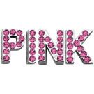 "Pink Letter Sliding Charms - 3/4"" (18mm)   PrestigeProductsEast.com"