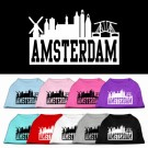 Amsterdam Skyline Screen Print Pet Shirt | PrestigeProductsEast.com