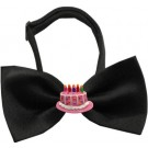 Pink Birthday Cake Chipper Pet Bow Tie | PrestigeProductsEast.com