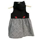 Black Top / Ink Lines Print Skirt   PrestigeProductsEast.com