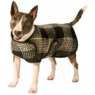 Black and White Plaid Dog Blanket Coat | PrestigeProductsEast.com