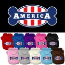 Bonely in America Screen Print Pet Hoodies | PrestigeProductsEast.com