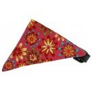 Bright Pink Crazy Daisies Bandana Pet Collar | PrestigeProductsEast.com