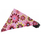 Bubblegum Pink Crazy Daisies Bandana Pet Collar | PrestigeProductsEast.com