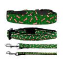 Candy Cane Bones Nylon Ribbon Collars | PrestigeProductsEast.com