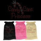 Candy Cane Princess Rhinestone Knit Pet Sweater | PrestigeProductsEast.com