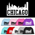 Chicago Skyline Screen Print Pet Shirt | PrestigeProductsEast.com