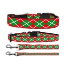 Christmas Argyle Nylon Ribbon Collars | PrestigeProductsEast.com